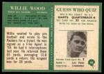 1966 Philadelphia #90  Willie Wood  Back Thumbnail