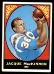 1967 Topps #124  Jacque MacKinnon  Front Thumbnail