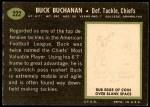 1969 Topps #222  Buck Buchanan  Back Thumbnail