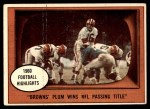 1961 Topps #132   -  Milt Plum 1960 Football Highlights Front Thumbnail