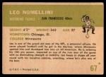 1961 Fleer #67  Leo Nomellini  Back Thumbnail