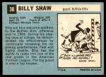 1964 Topps #38  Billy Shaw  Back Thumbnail