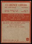 1965 Philadelphia #116  Clarence Childs   Back Thumbnail