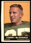 1961 Topps #96  Tommy McDonald  Front Thumbnail