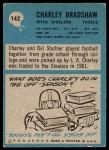 1964 Philadelphia #142  Charley Bradshaw   Back Thumbnail