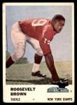 1961 Fleer #71  Roosevelt Brown  Front Thumbnail