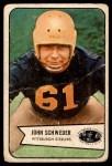 1954 Bowman #25  John Schweder  Front Thumbnail