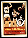 1973 Topps #100  Jerry West  Front Thumbnail