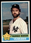 1976 Topps #650  Thurman Munson  Front Thumbnail