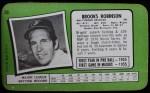 1971 Topps Super #59  Brooks Robinson  Back Thumbnail