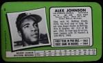 1971 Topps Super #8  Alex Johnson  Back Thumbnail