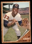 1962 Topps #307  Mudcat Grant  Front Thumbnail
