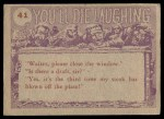 1959 Topps / Bubbles Inc You'll Die Laughing #41   Did you say there was Back Thumbnail