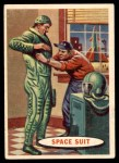 1957 Topps Space Cards #13   Space Suit  Front Thumbnail