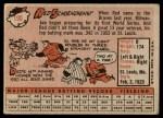 1958 Topps #190  Red Schoendienst  Back Thumbnail