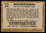 1958 Topps TV Westerns #10   Showdown!  Back Thumbnail