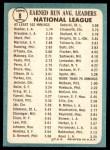 1965 Topps #8   -  Sandy Koufax / Don Drysdale NL ERA Leaders Back Thumbnail
