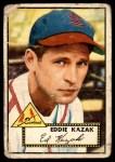 1952 Topps #165 CRM Eddie Kazak  Front Thumbnail