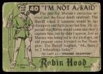 1957 Topps Robin Hood #40   I'm Not Afraid Back Thumbnail