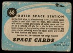 1957 Topps Space Cards #68   Outer Space Station Back Thumbnail