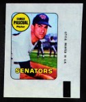1969 Topps Decals  Camilo Pascual  Front Thumbnail