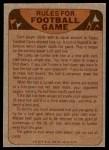 1974 Topps  Checklist   Houston Oilers Team Back Thumbnail
