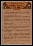 1974 Topps  Checklist   Denver Broncos Team Back Thumbnail