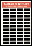 1970 Topps Scratch Offs #5  Glenn Beckert  Back Thumbnail