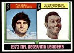 1974 Topps #330   -  Harold Carmichael / Fred WIllis Receiving Leaders Front Thumbnail