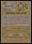 1974 Topps #334  Dennis Nelson  Back Thumbnail