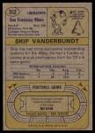 1974 Topps #352  Skip Vanderbundt  Back Thumbnail