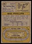 1974 Topps #294  Mel Phillips  Back Thumbnail