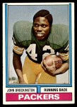1974 Topps #400  John Brockington  Front Thumbnail
