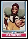 1974 Topps #400  John Brockington  Front Thumbnail