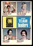 1974 Topps #95   -  Neal Walk / Dick Van Arsdale / Charlie Scott Suns Team Leaders Front Thumbnail