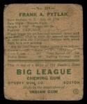 1938 Goudey Heads Up #269 Frank Pytlak  Back Thumbnail
