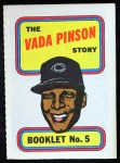 1970 Topps Booklets #5  Vada Pinson      Front Thumbnail