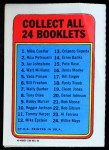 1970 Topps Booklets #12  Mike Epstein      Back Thumbnail