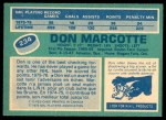 1976 O-Pee-Chee NHL #234  Don Marcotte  Back Thumbnail