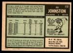 1971 O-Pee-Chee #172  Ed Johnston  Back Thumbnail