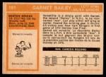 1972 O-Pee-Chee #191  Garnet Bailey  Back Thumbnail