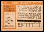 1972 O-Pee-Chee #181  Bobby Schmautz  Back Thumbnail