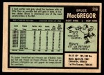 1971 O-Pee-Chee #216  Bruce MacGregor  Back Thumbnail