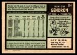 1971 O-Pee-Chee #204  Jean-Guy Gendron  Back Thumbnail