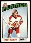 1976 O-Pee-Chee NHL #24  Randy Manery  Front Thumbnail
