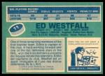 1976 O-Pee-Chee NHL #11  Ed Westfall  Back Thumbnail