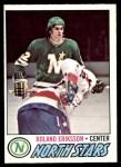 1977 O-Pee-Chee #123  Roland Eriksson  Front Thumbnail