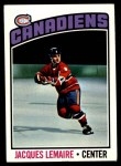 1976 Topps #129  Jacques Lemaire  Front Thumbnail