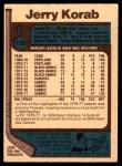 1977 O-Pee-Chee #128  Jerry Korab  Back Thumbnail