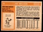 1972 O-Pee-Chee #60  Jim Neilson  Back Thumbnail